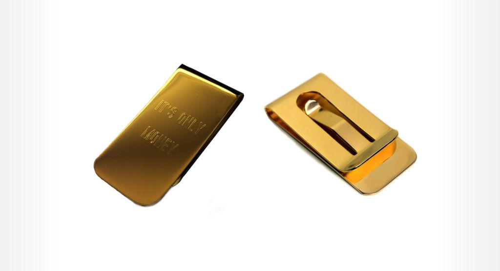 It's Only Money - 18 Karat Gold Plated Money Clip