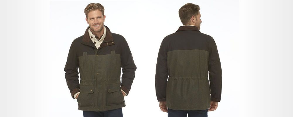 LL Bean - Town and Field Waxed Wool Jacket