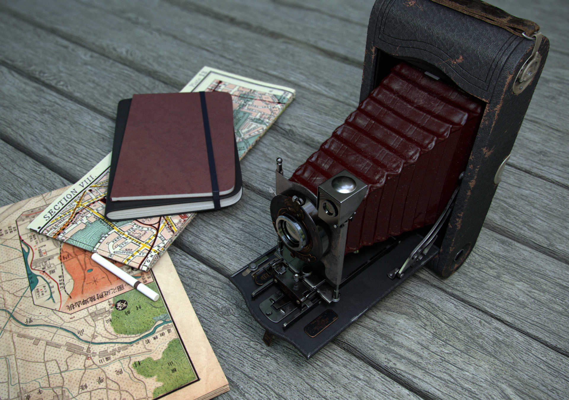 No 3A Folding Pocket Kodak – vintage camera