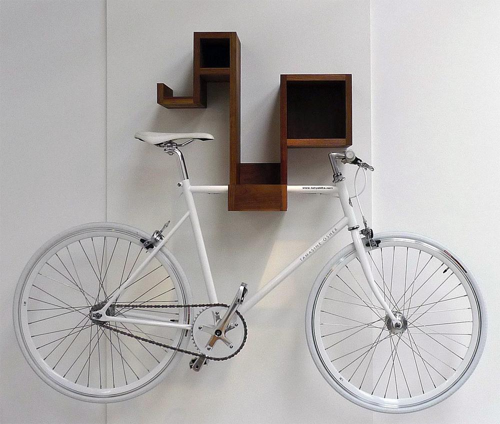 Pedal Pod Hardwood Home Bike Rack