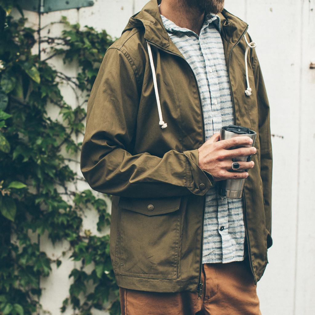 Taylor Stitch Beach Jacket - waxed canvas