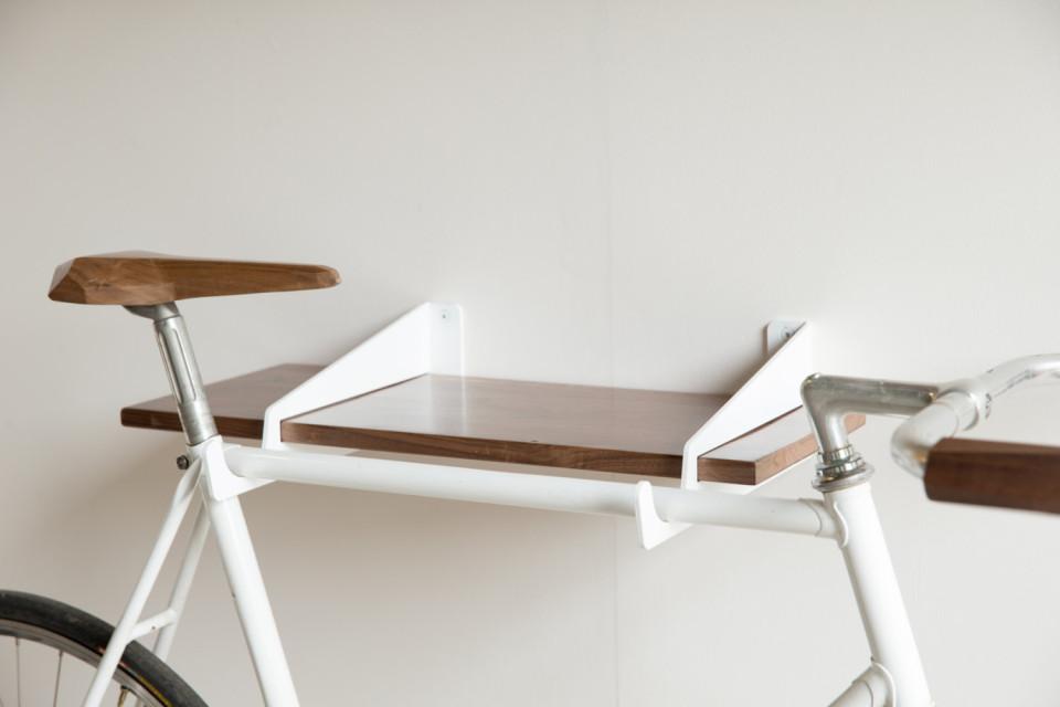 Velo WallStirrups - indoor bike rack