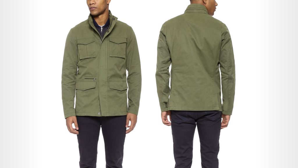 Vince Military 3-In-1 wax canvas jacket