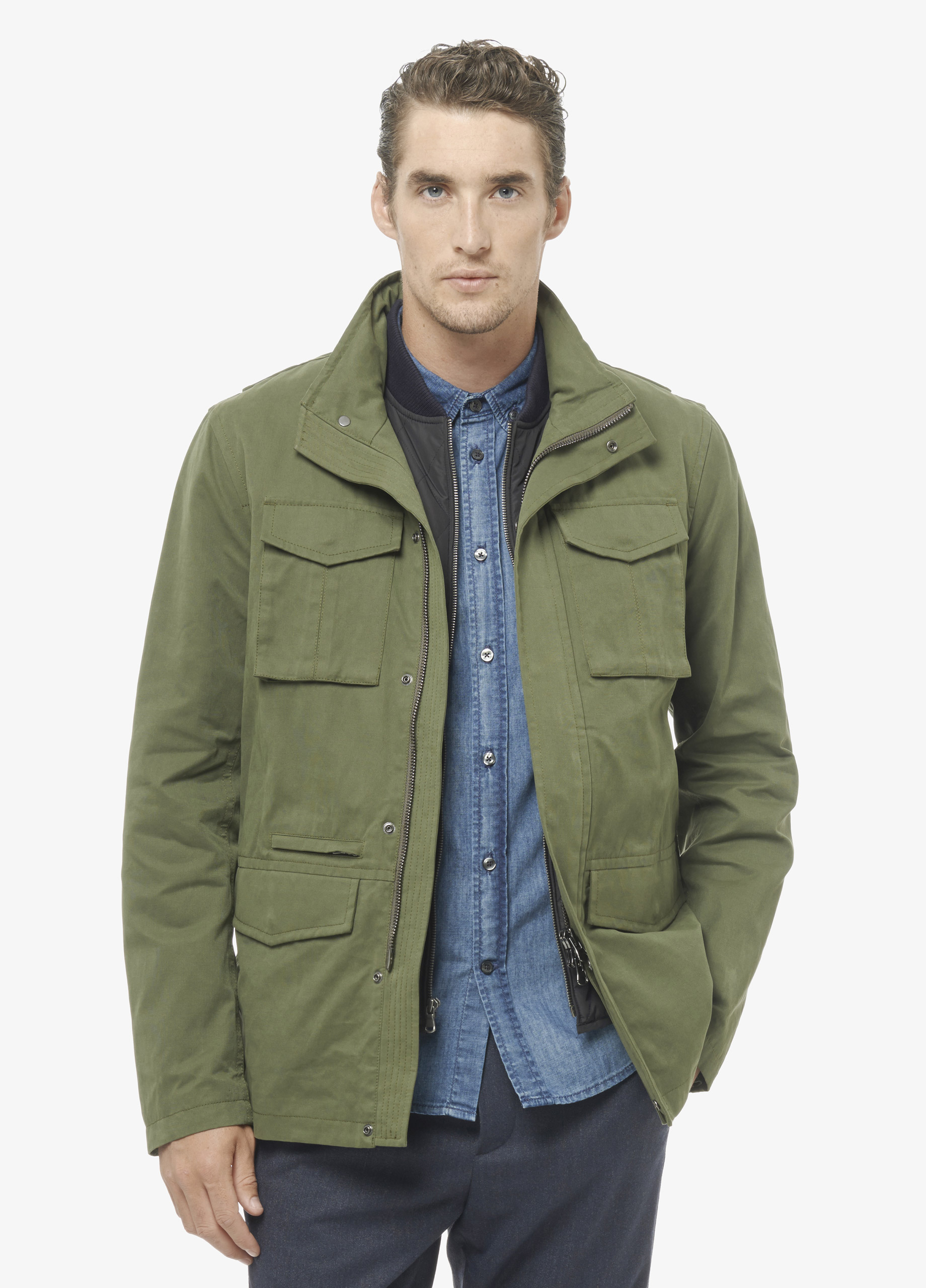 Vince Military 3-In-1 – waxed canvas jacket