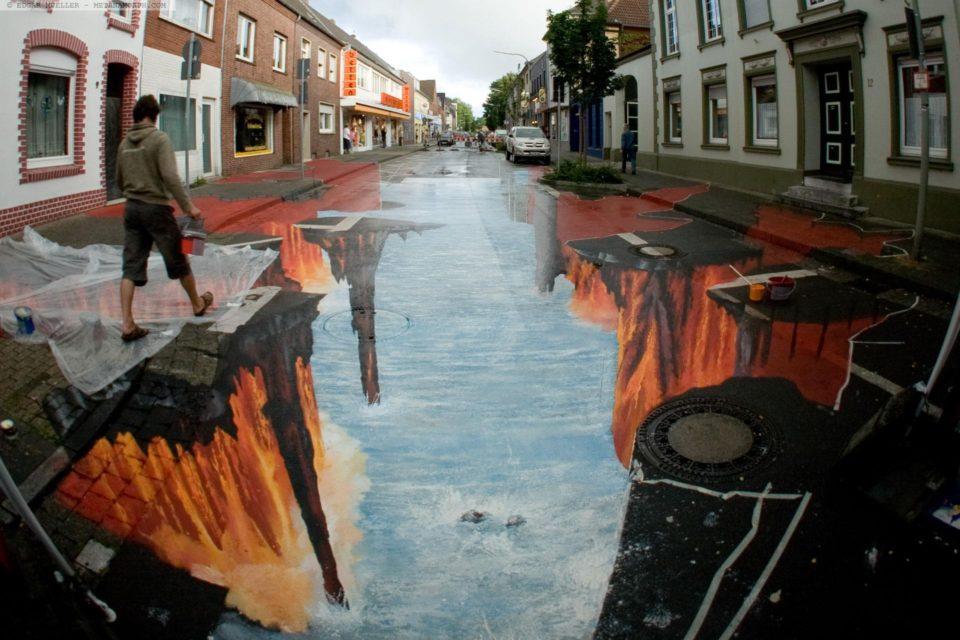 Edgar Müller - 3D sidewalk art 2