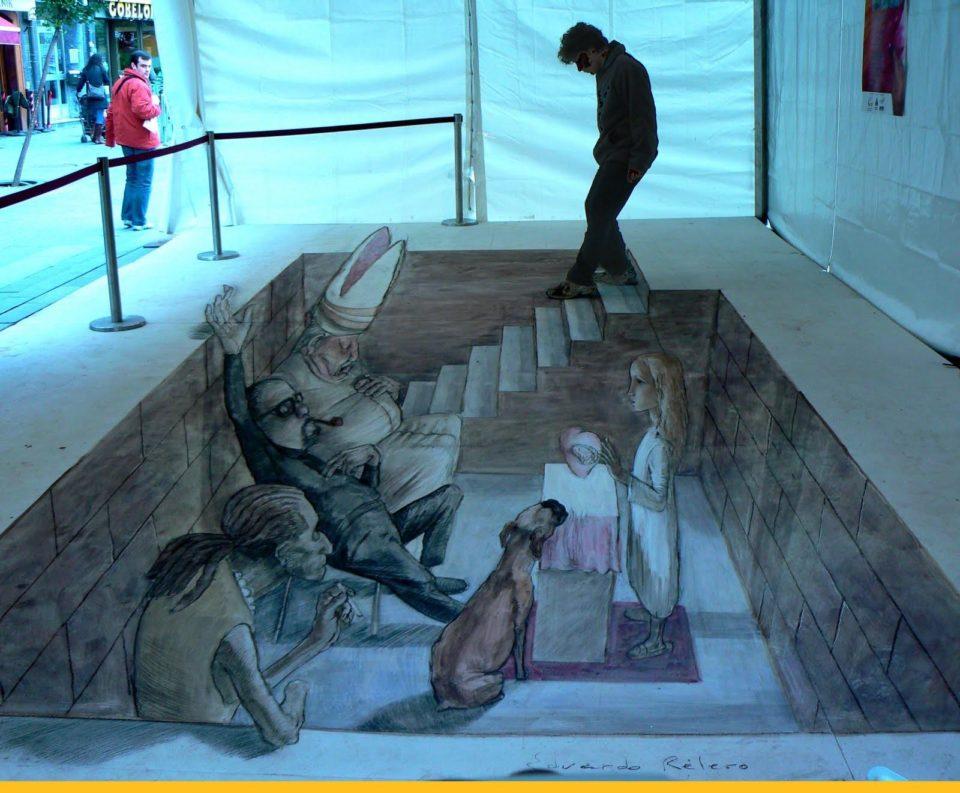 Eduardo Rolero - 3D sidewalk art 2