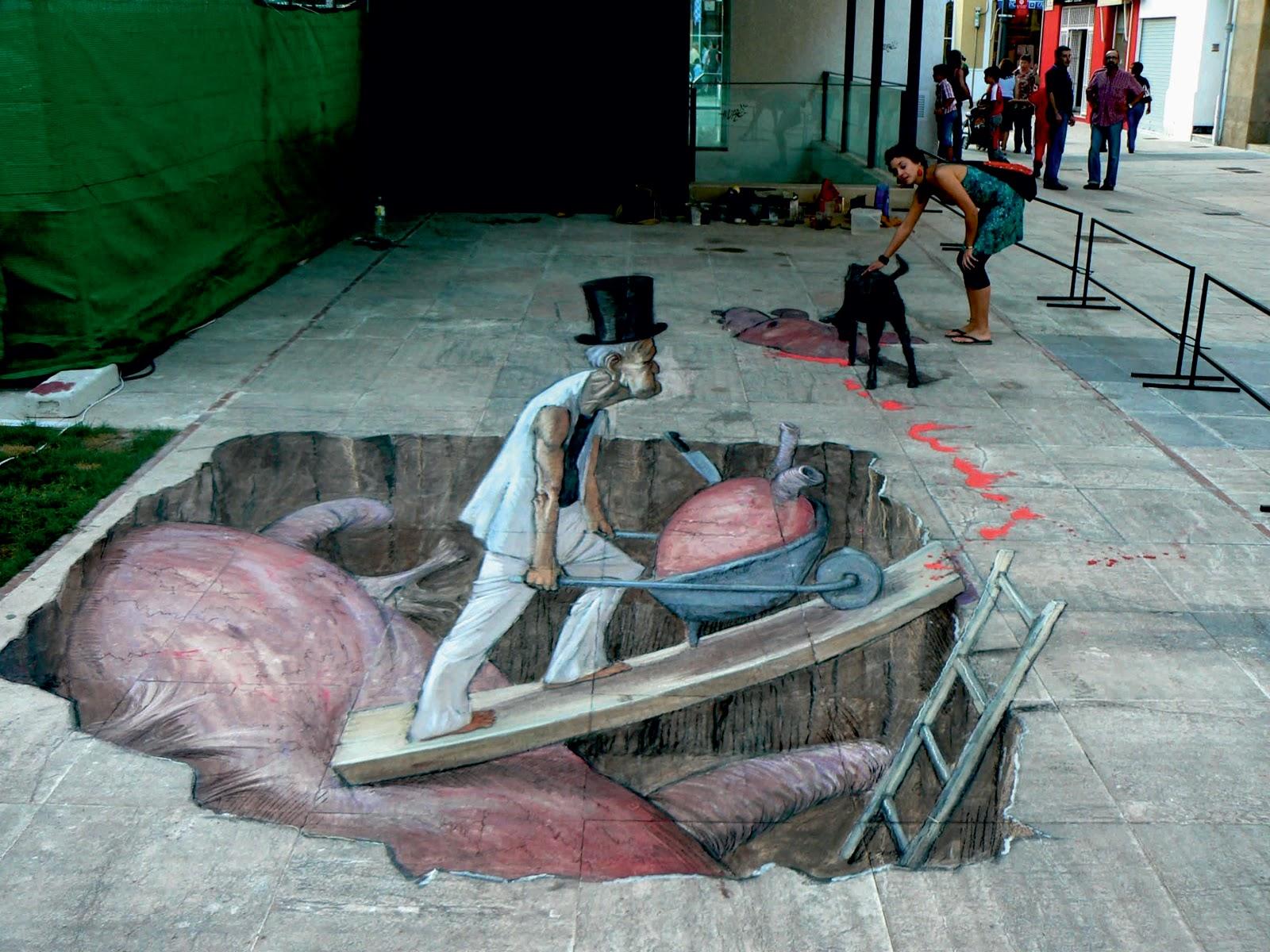 Eduardo Rolero – 3D sidewalk art 3