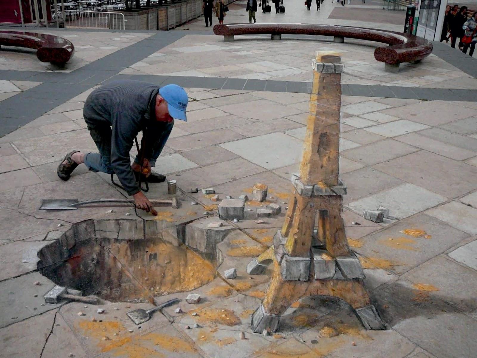 Eduardo Rolero – 3D sidewalk art – 4