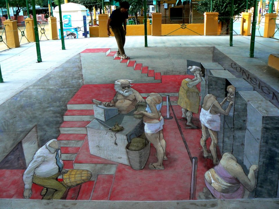 Eduardo Rolero - 3D sidewalk art