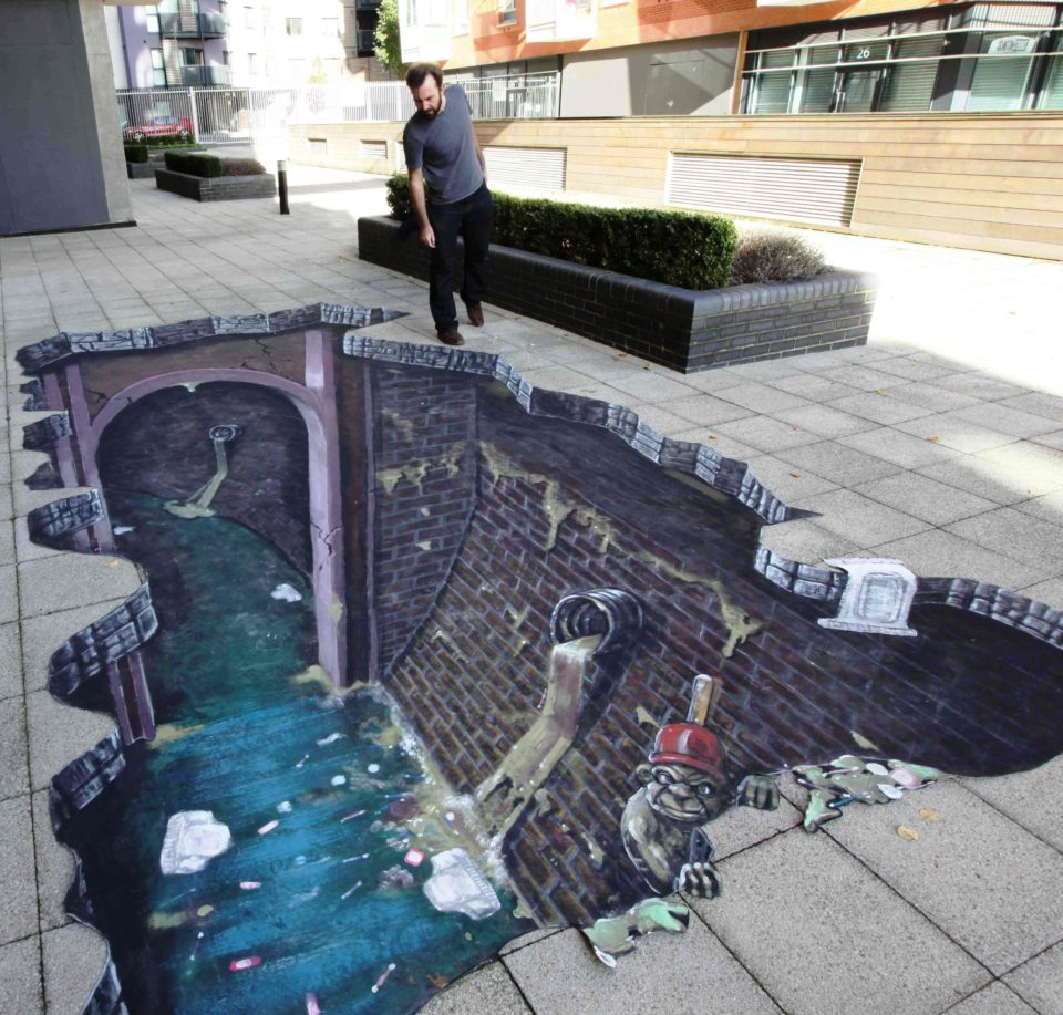 Joe Hill - 3D sidewalk art 3
