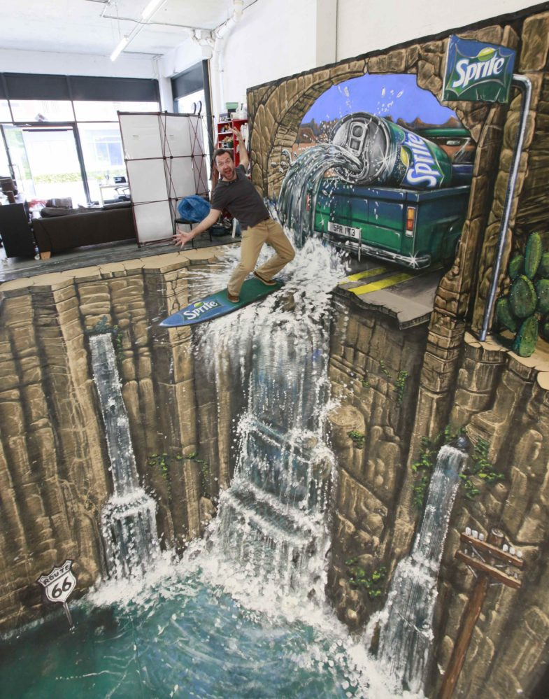 Joe Hill - 3D sidewalk art 4