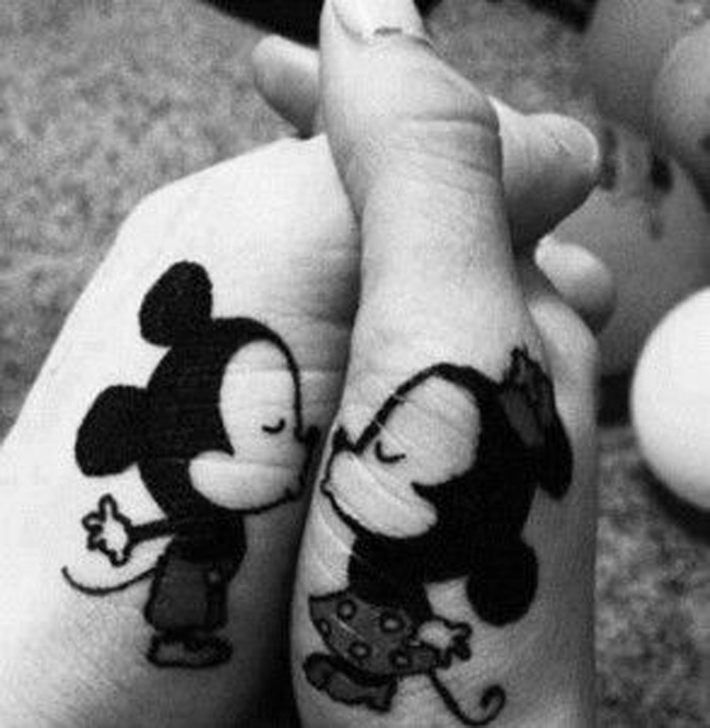 Mickey and Minnie - couples tattoo