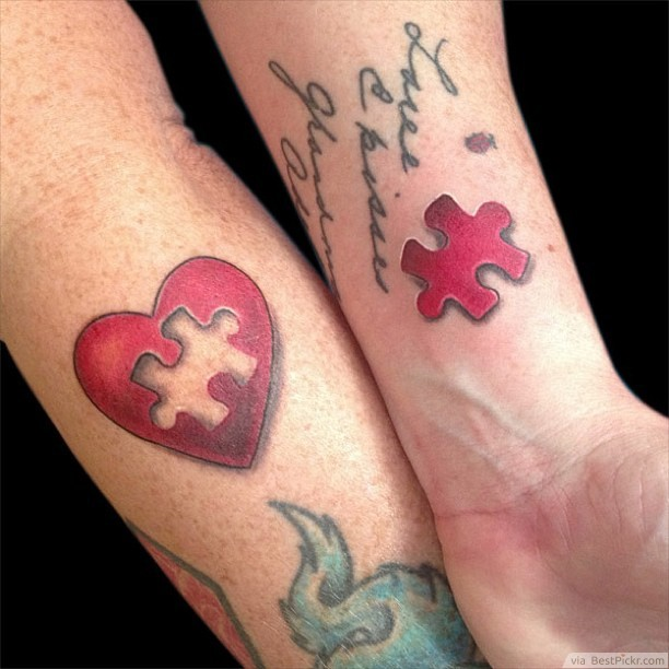 Missing Puzzle Piece - couples tattoo