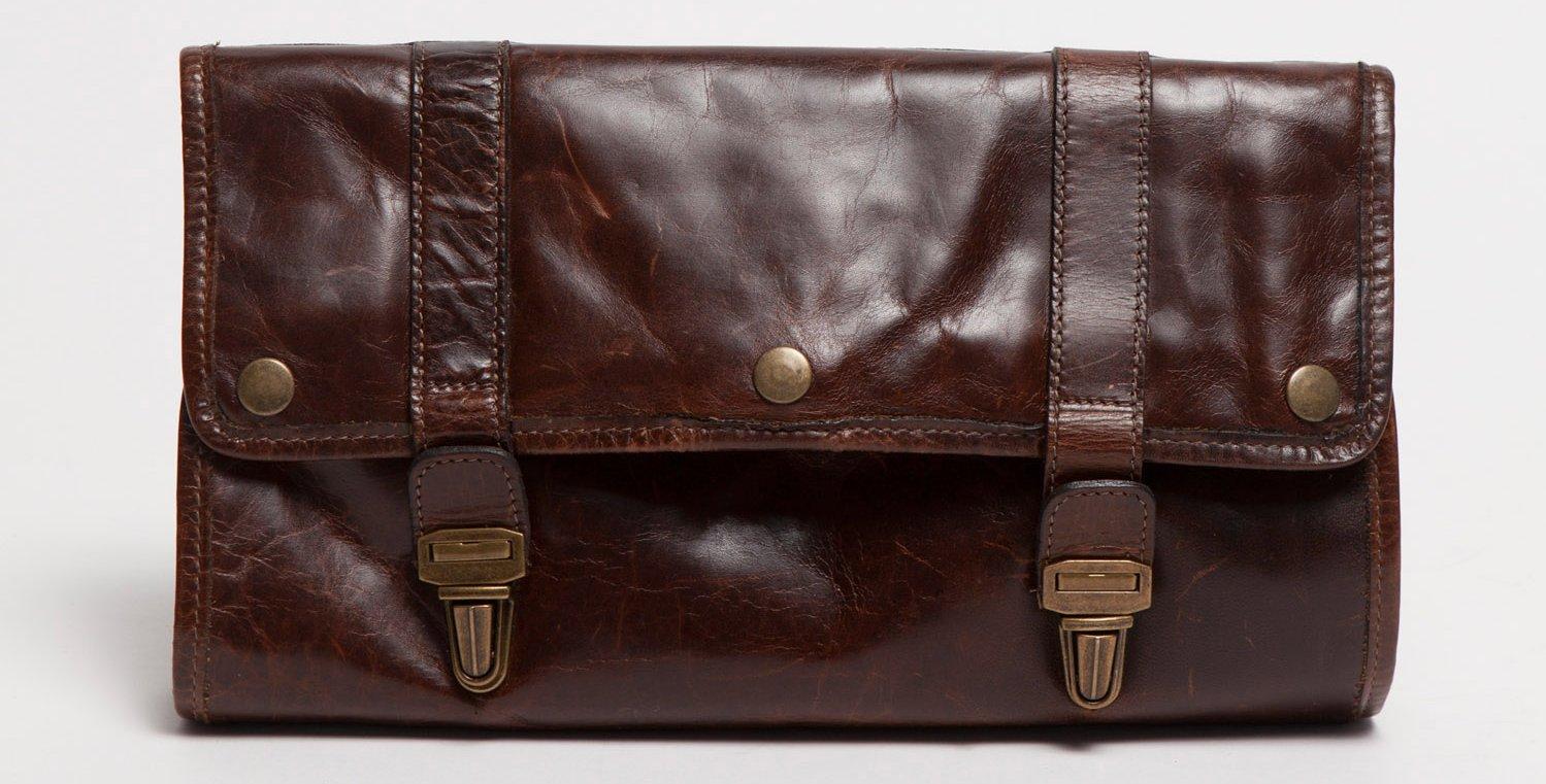 Moore & Giles Austin Leather Hanging Dopp Kit