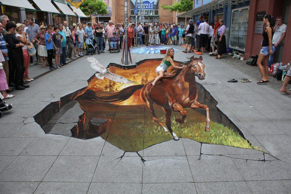Nikolaj Arndt 3D sidewalk art