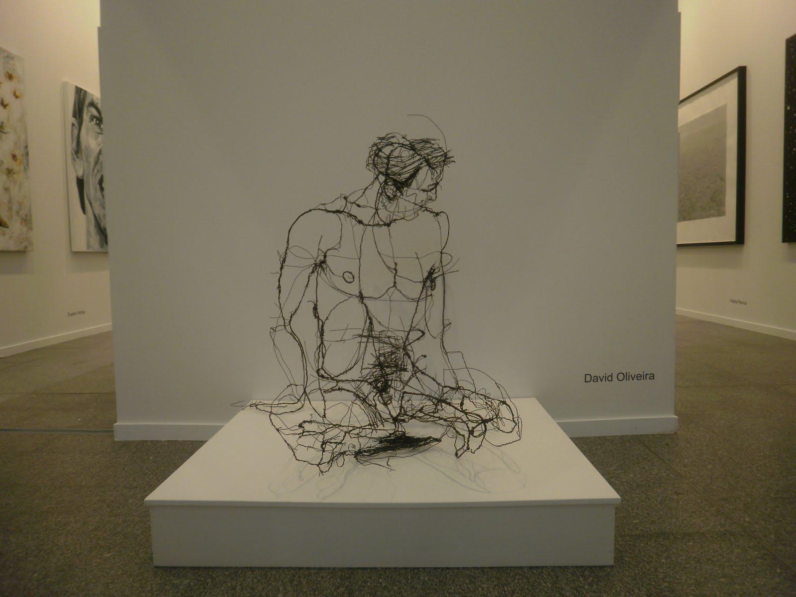 'Scribble Sculptures' by David Oliveira – wire sculptures
