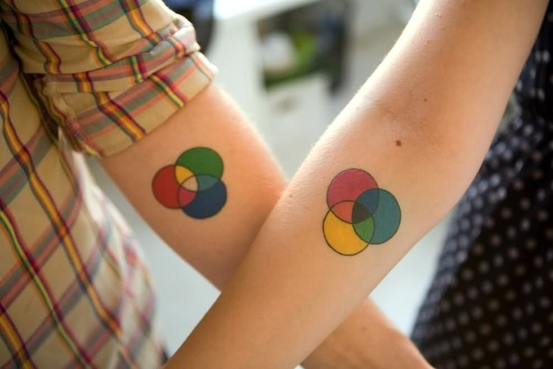 Venn Diagram - couples tattoo