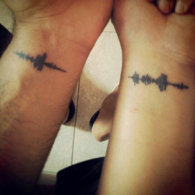 Voice Print - Couples tattoo