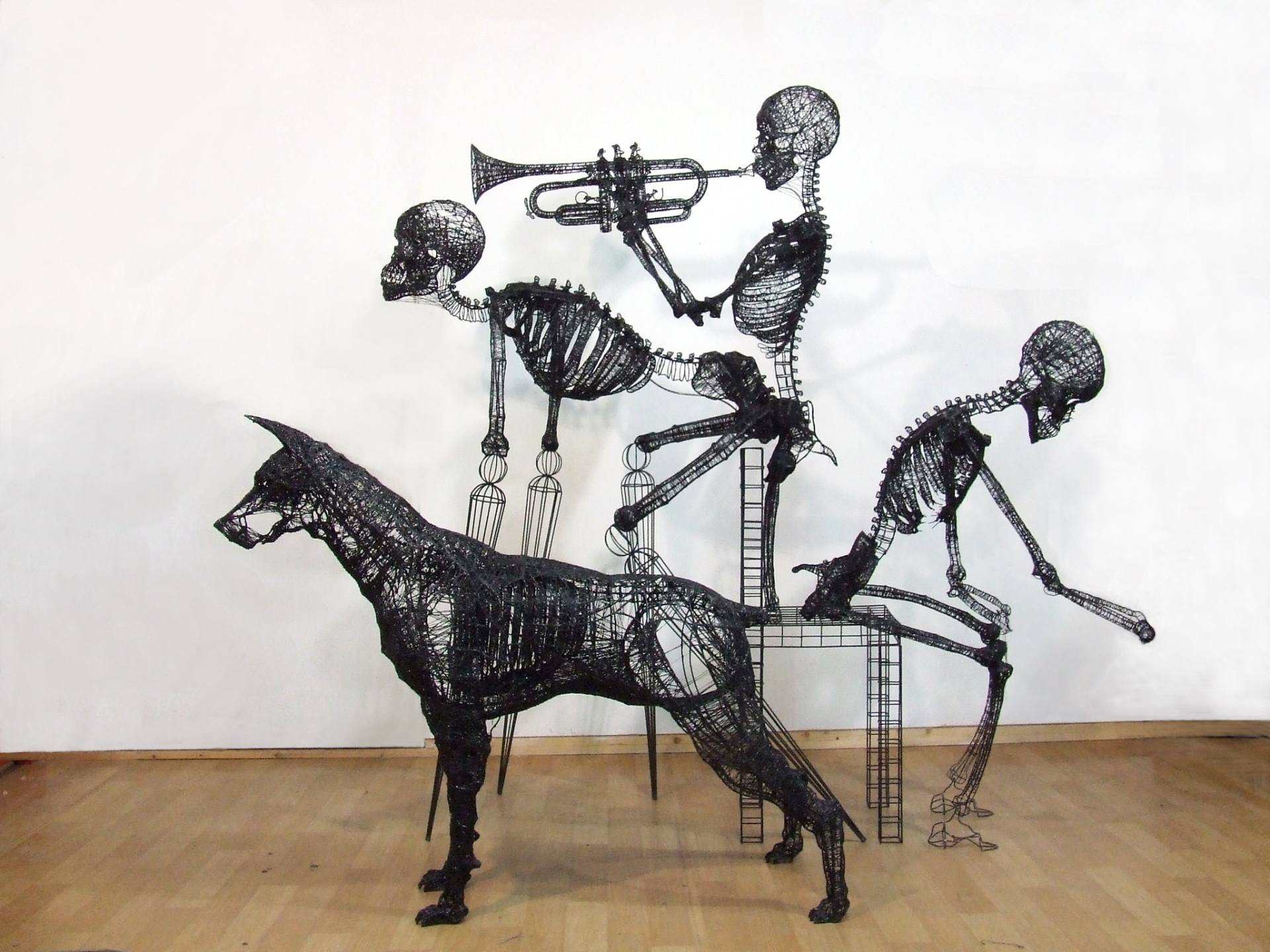 'augmented reality' by Yong Won Song – wire sculpture