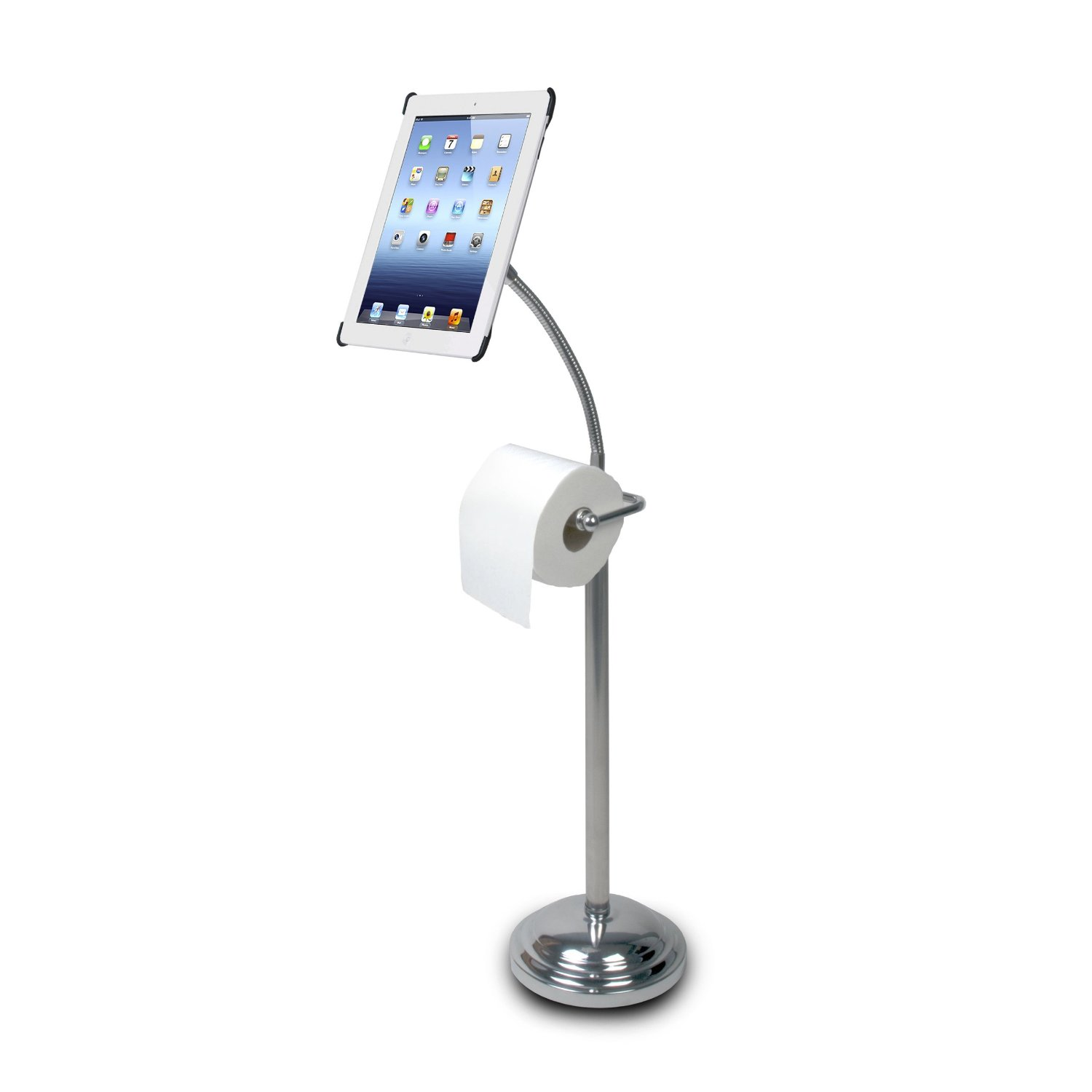 iPad Commode Caddy – weird invention
