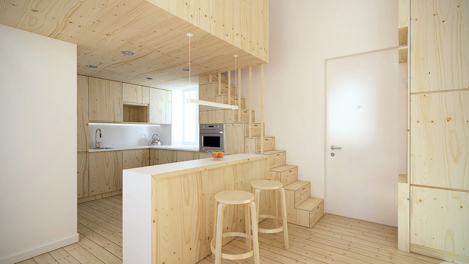 loft in wood - micro apartment