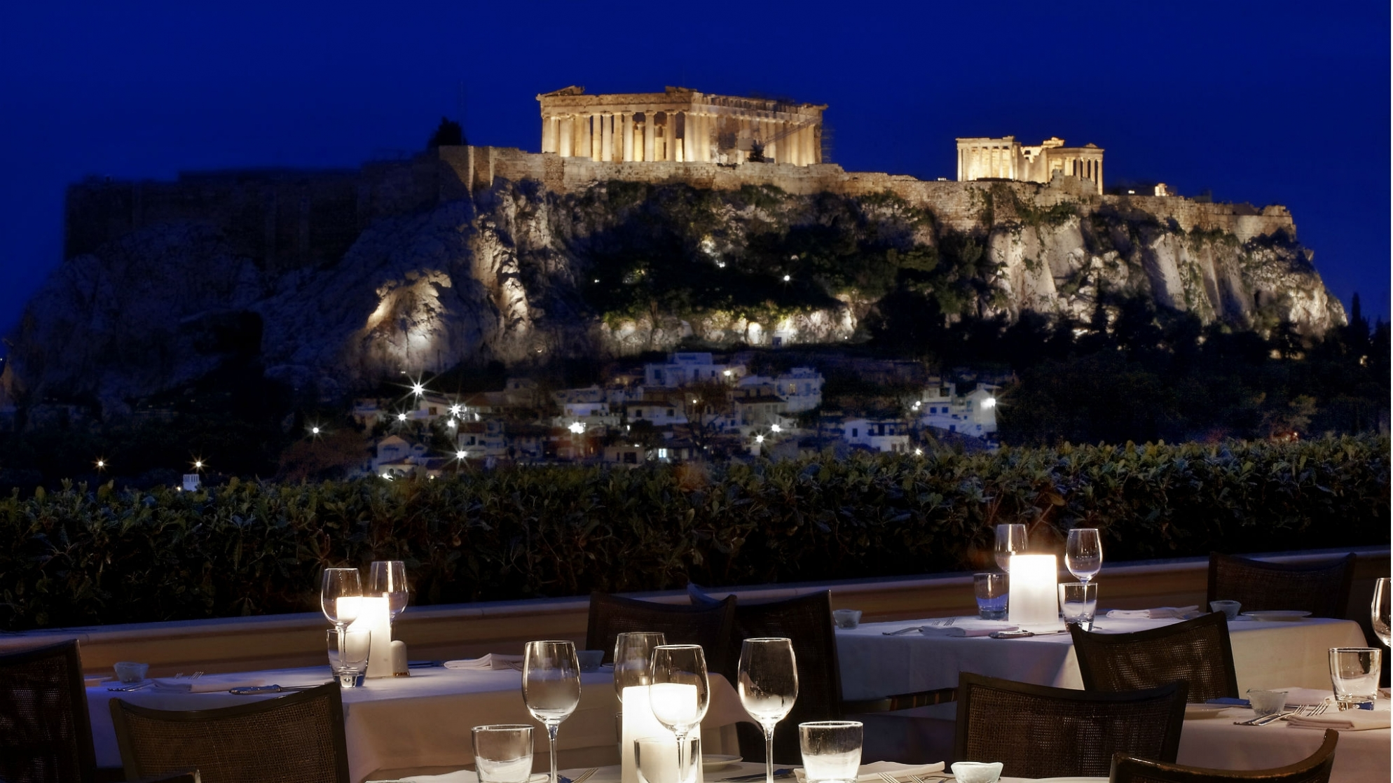 Acropolis from GB Rooftop Garden – rare view