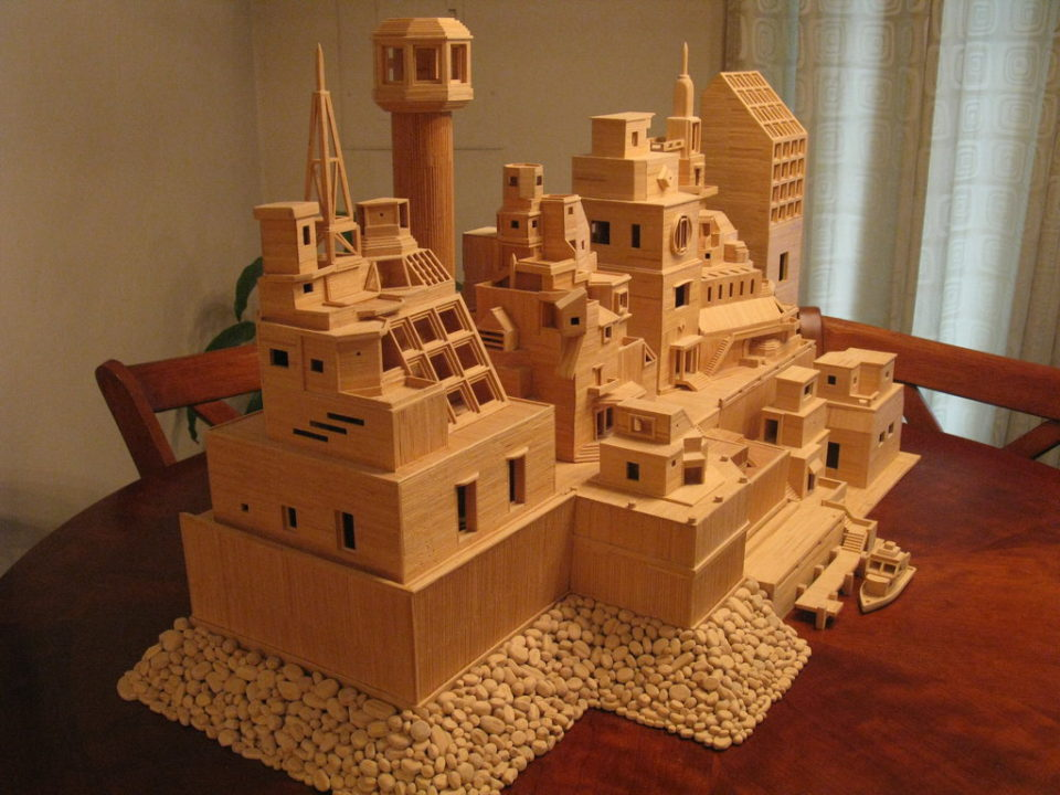 Bobs Toothpick City Sculpture