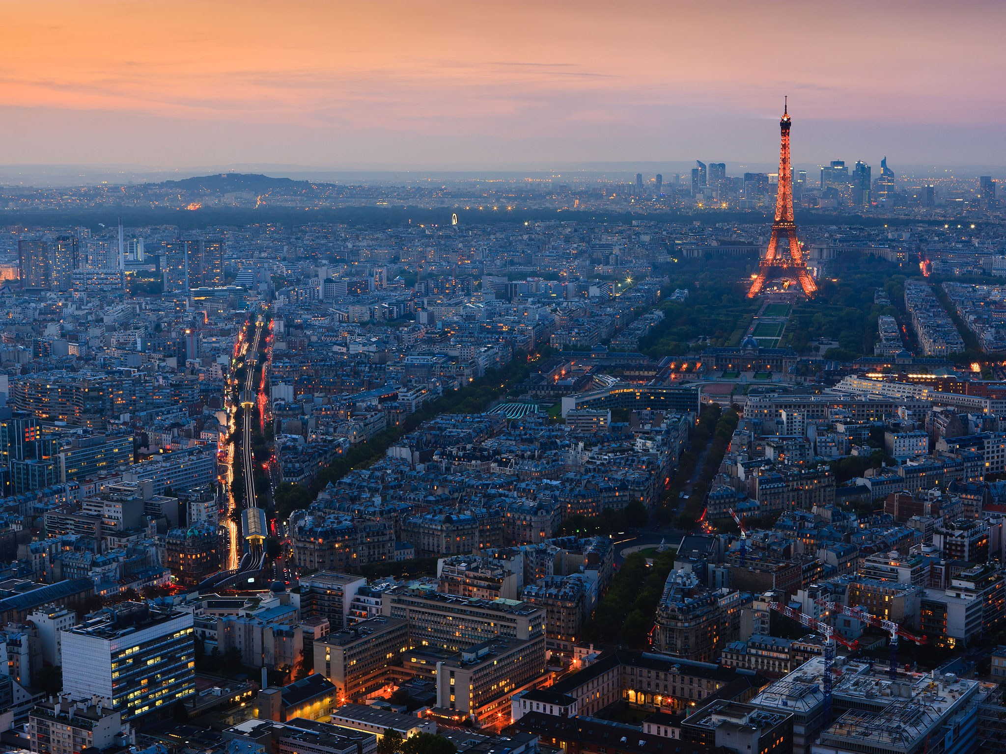 Eiffel Tower – rare rooftop view