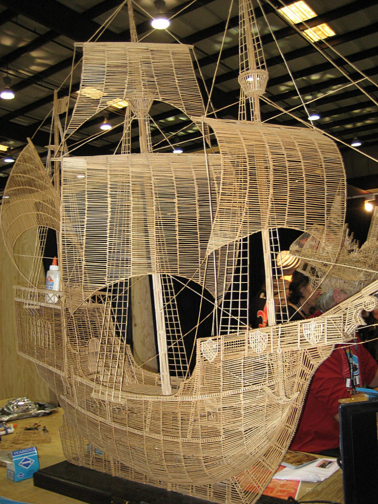 Galleon by Scott Weaver - toothpick sculpture