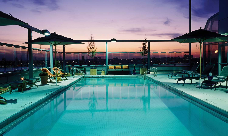 Hotel Gansevoort – rooftop pool nyc