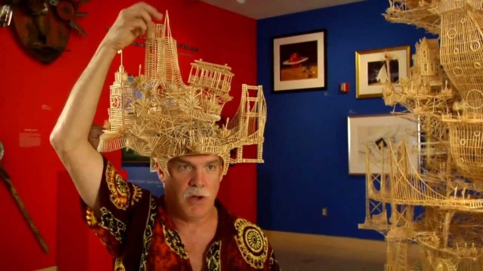 Rolling Babylon by Scott Weaver - toothpick sculpture