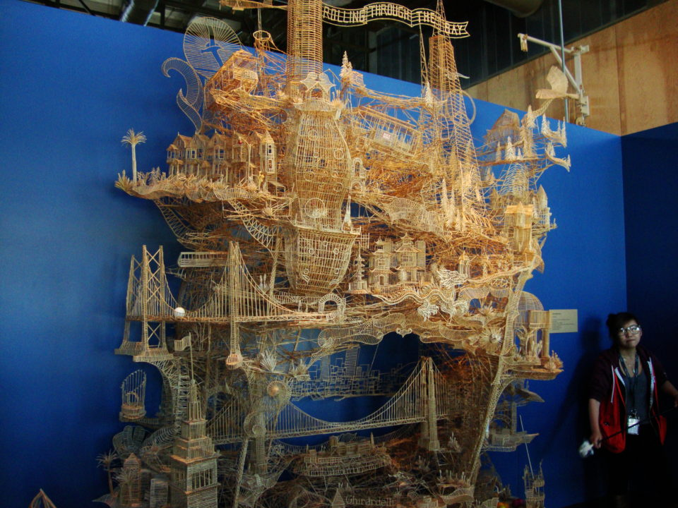 Rolling Through the Bay by Scott Weaver - toothpick sculpture