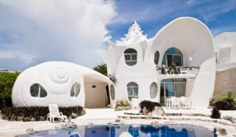 Seashell House weird airbnb rental 345x200 Think Outside the Hotel with the Weirdest AirBnB Rentals