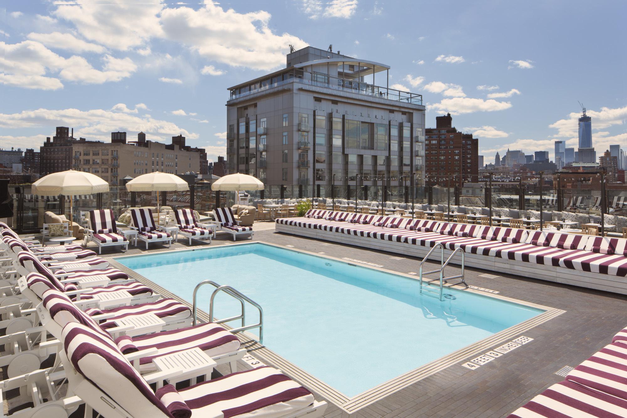 Soho House on Ninth – rooftop pool nyc