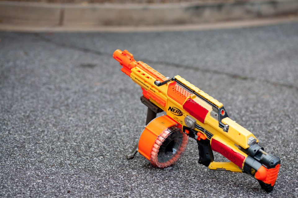 Nerf-N-Strike Elite Hail Fire: 8 clips + semi-automatic fire