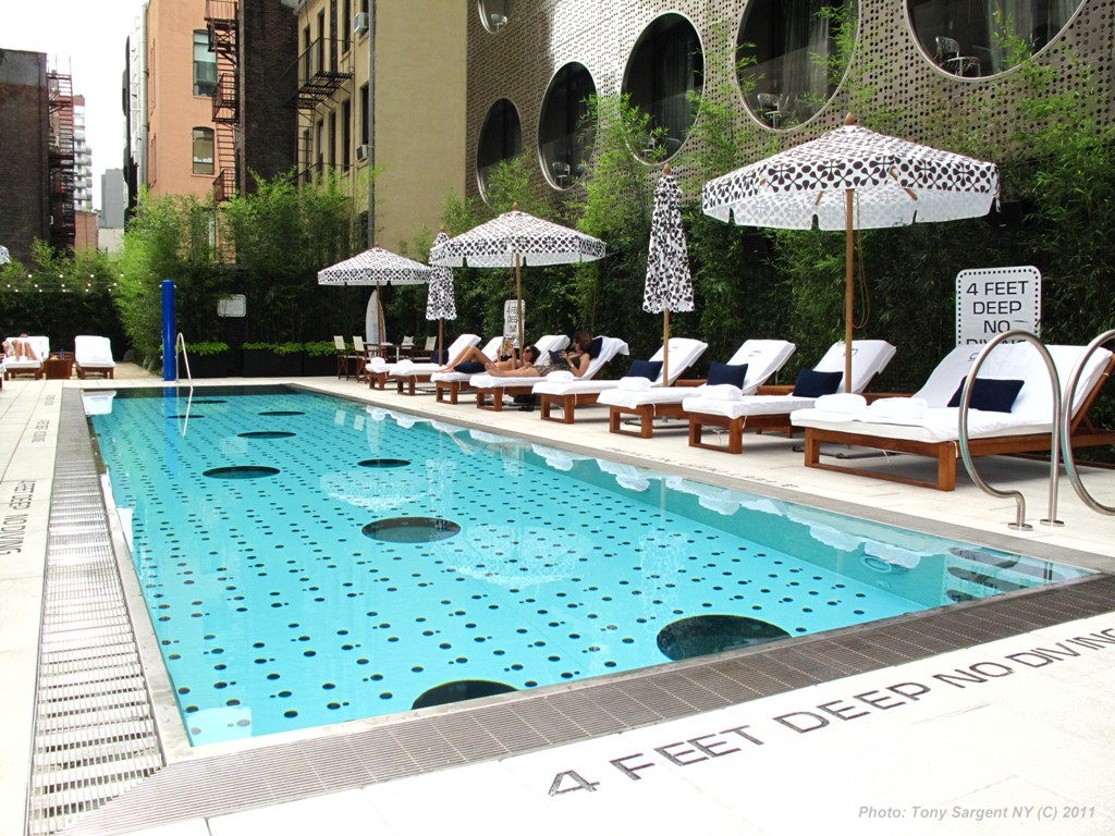 The Beach at Dream Downtown – rooftop pool nyc