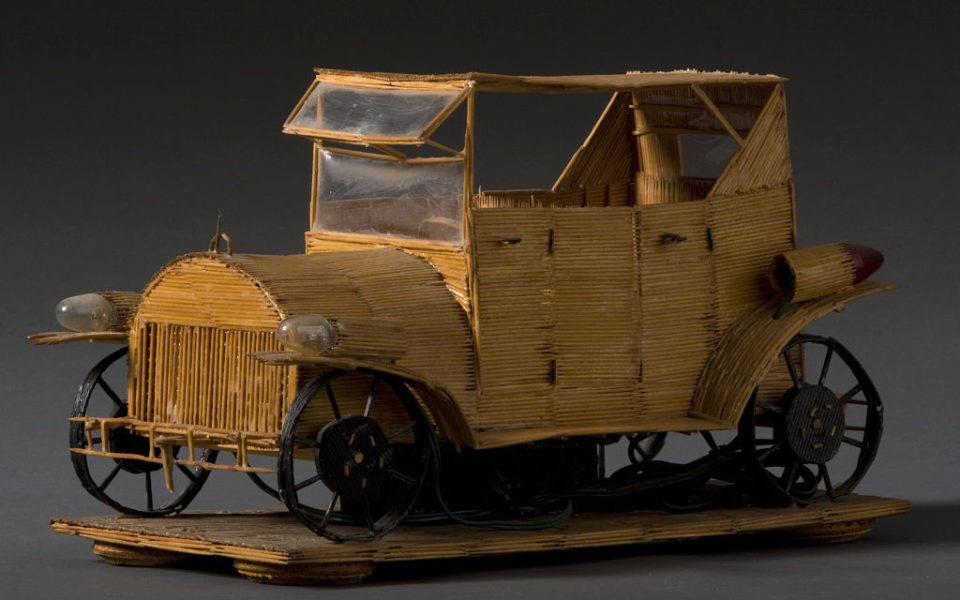 Toothpick Truck Sculpture by Wesley Stewart