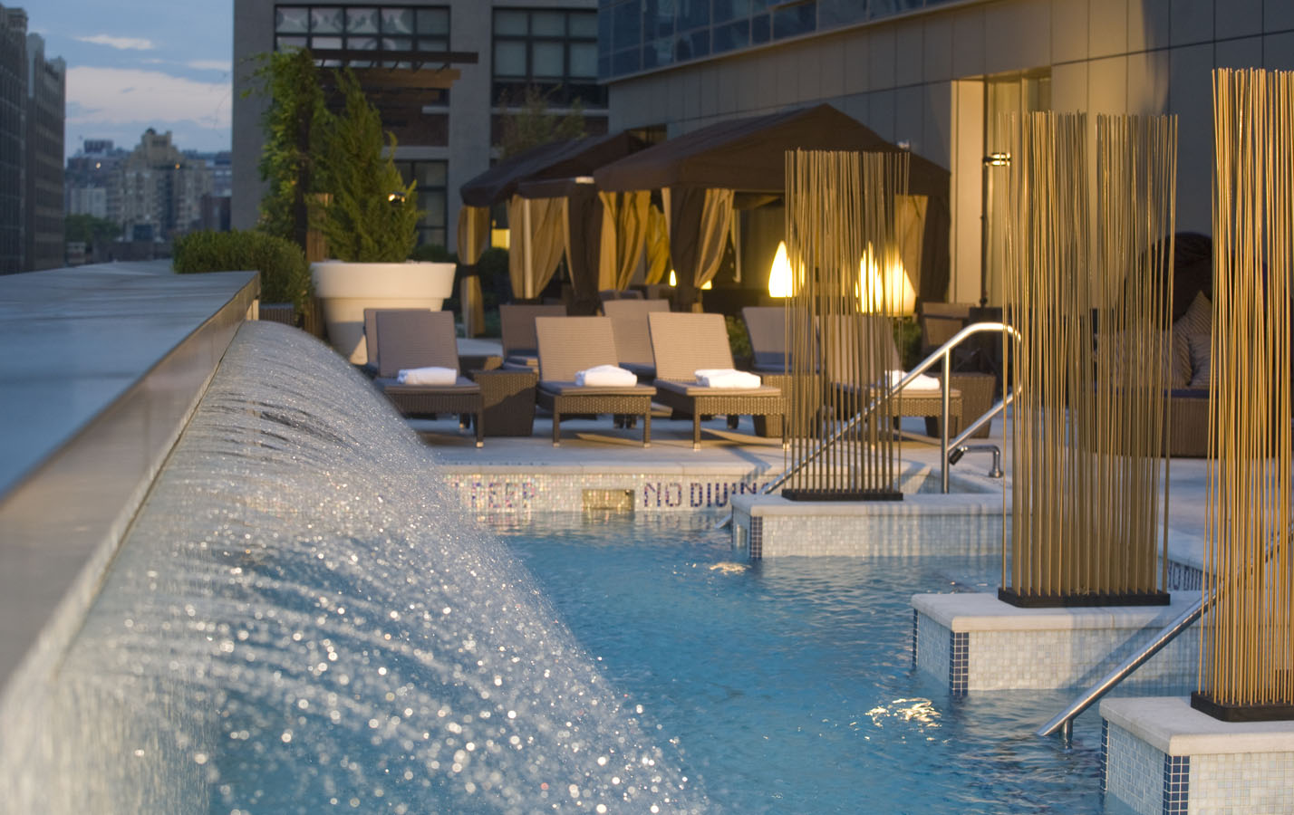 Trump Soho – rooftop pool nyc