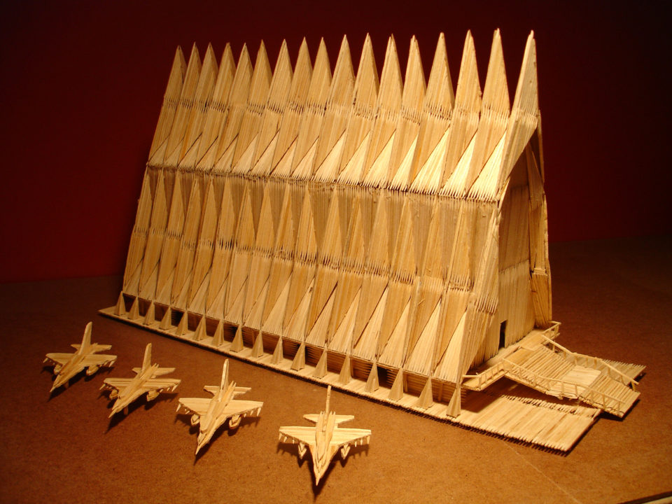 United States Airforce Academy toothpick sculpture 960x720 15 Incredible Toothpick Sculptures from 5 Dynamic Artists