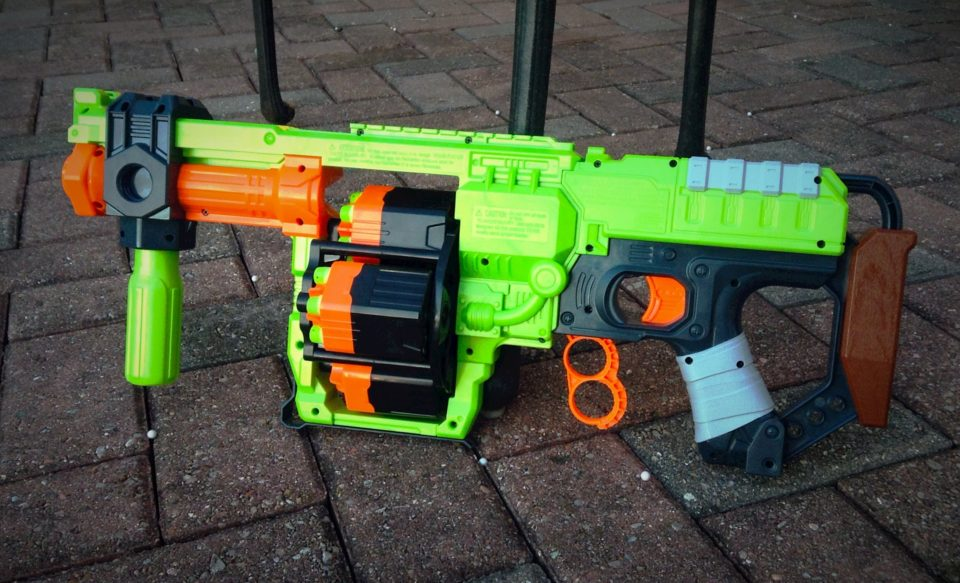 View in gallery Zombie Strike Doominator Blaster nerf gun 960x583 Arm  Yourself for Cubicle Combat with the 20 Best
