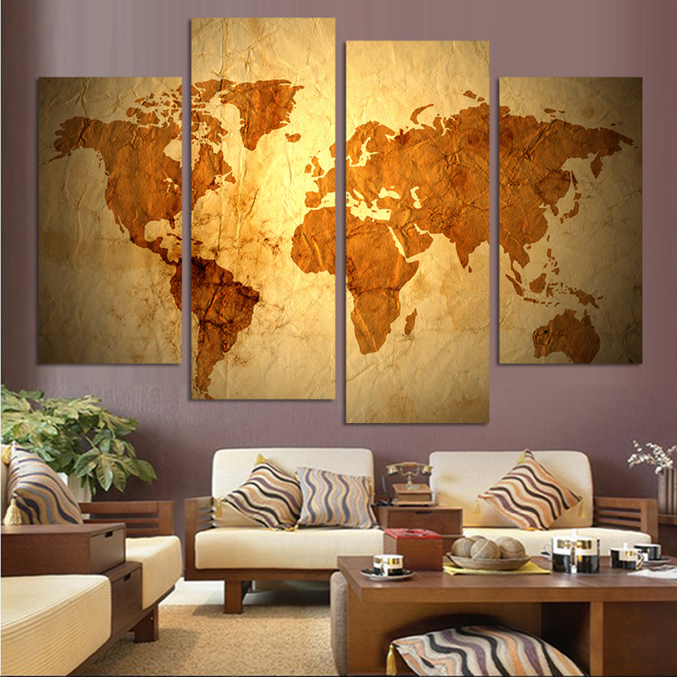 Antique Map – home decorating tips for men