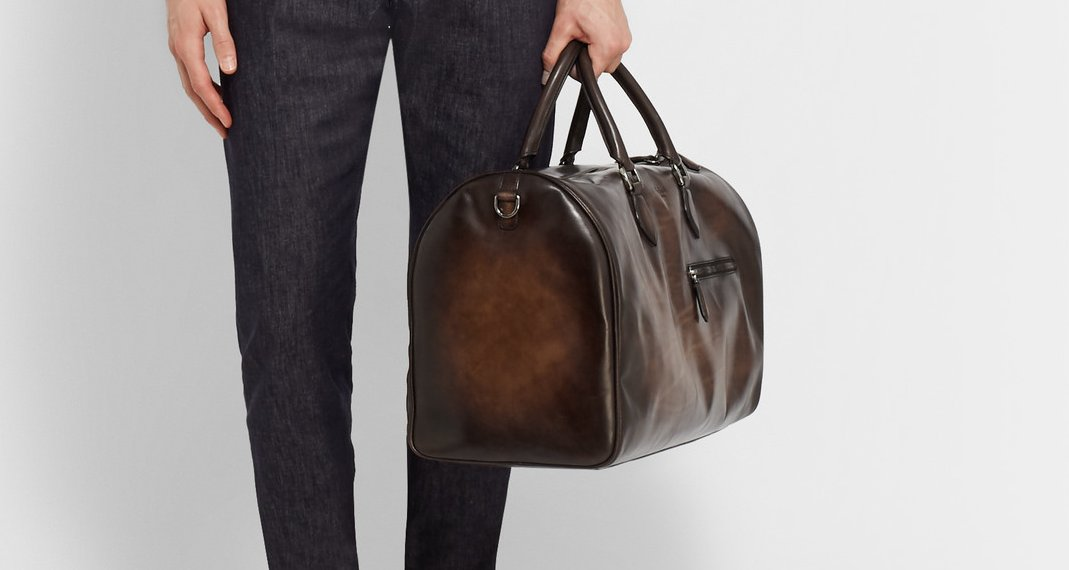 Berluti Polished Jour Off Leather Holdall – gym bag for men