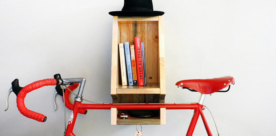 Modern Bike Rack BIKA, Made from Canadian Pine With Positive Environmental Impact