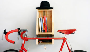 Modern Bike Rack BIKA, Made from Canadian Pine With Positive Environmental Impact