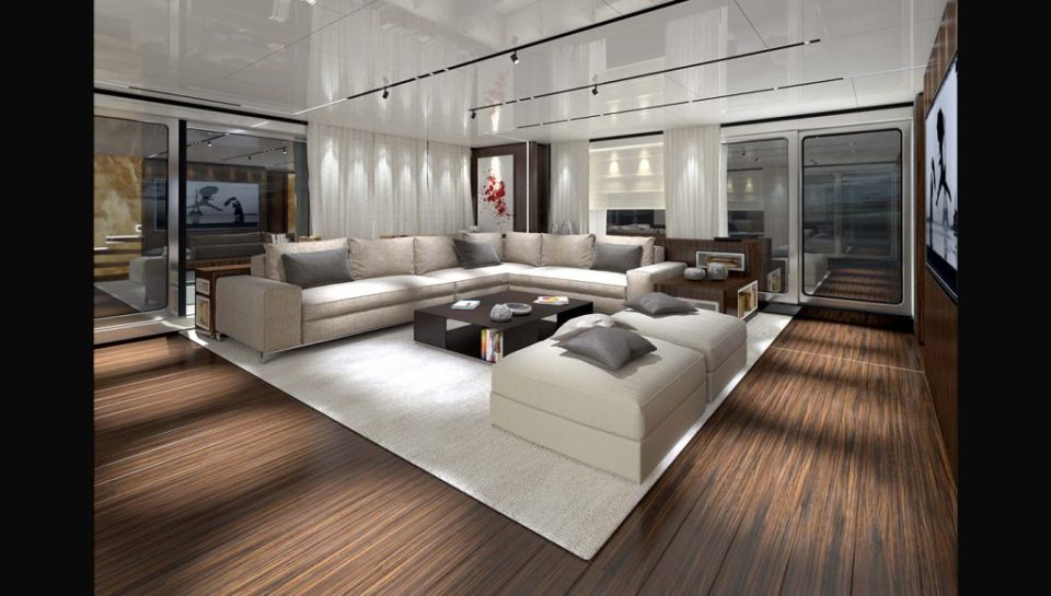 Central room in the yacht
