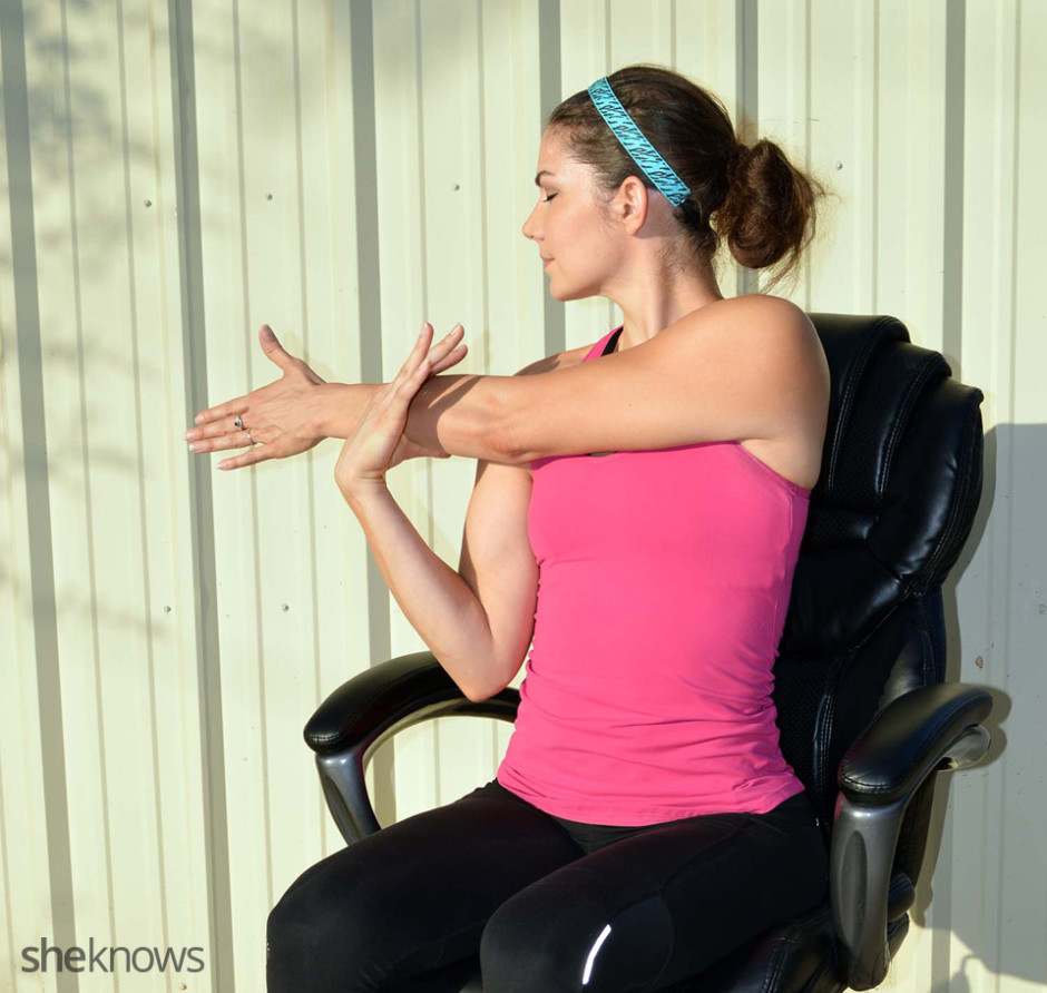 Cross-body Shoulder Desk Stretch