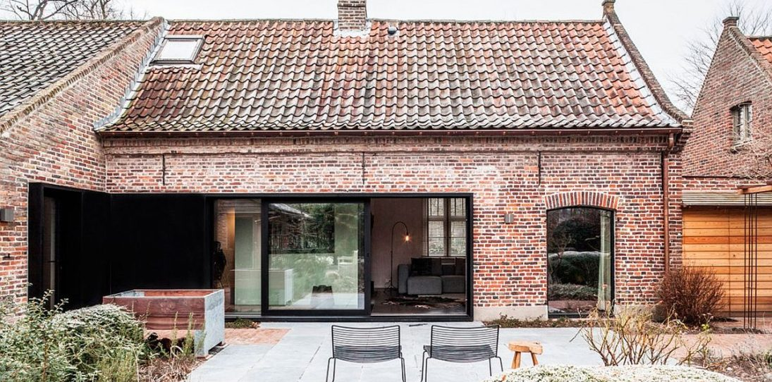 Belgian Farmhouse Gets Gorgeous Interior Makeover but Preserves Rustic Aesthetic