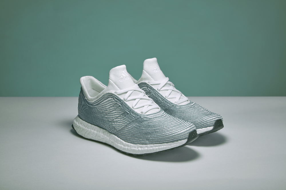 Adidas shoes covered in upcycled fishing rope
