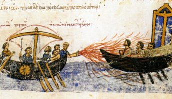 Greek Fire weapon of history 345x200 18 Incredible Weapons of History that Made Warfare Weird