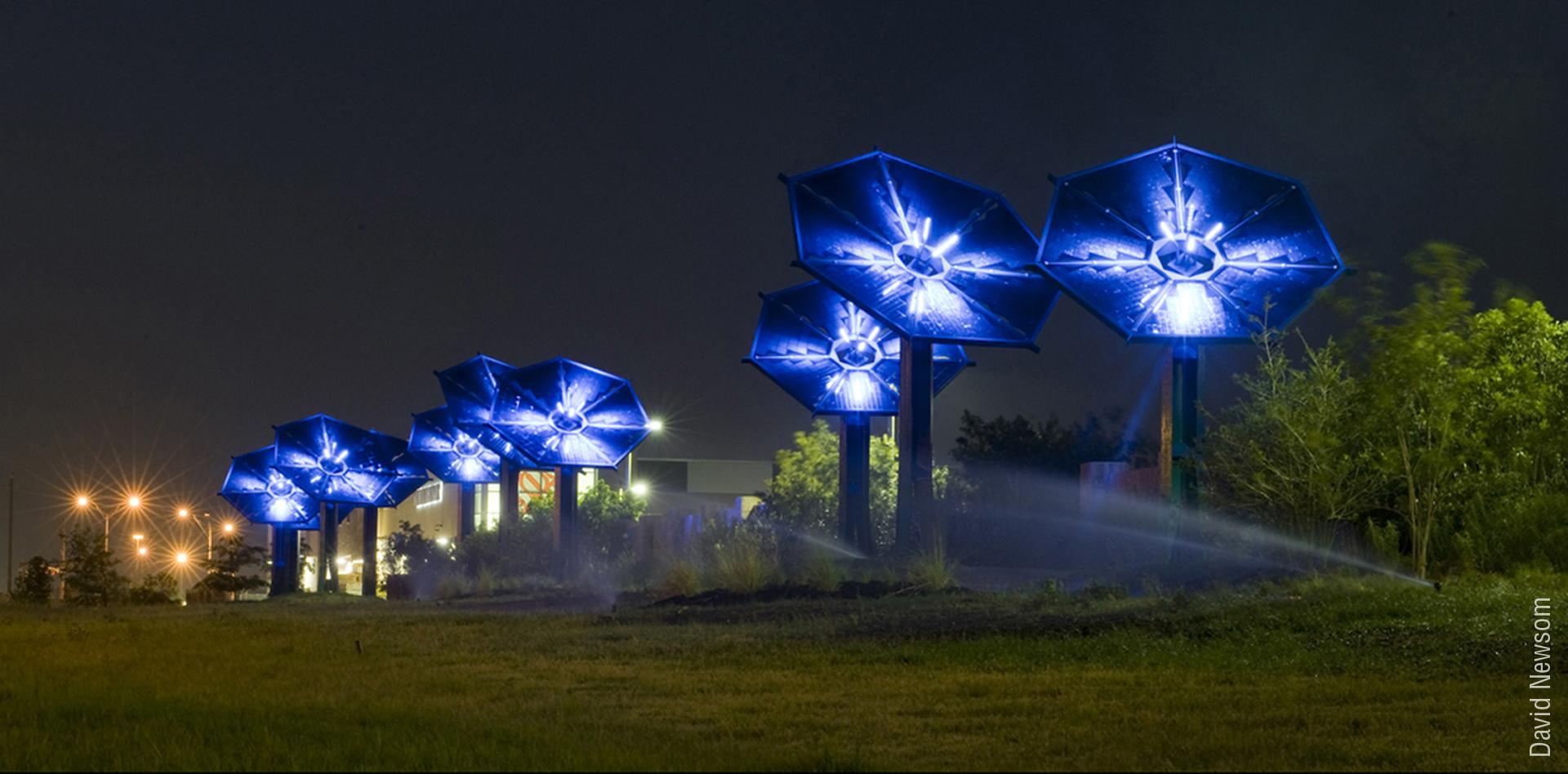 Harries SunFlowers – solar bulb installation